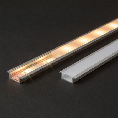 Süllyeszthető alumínium LED szalag profil 1m - 41011A1