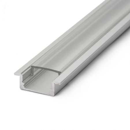 Süllyeszthető LED szalag profil fedlap 1m - átlátszó - 41011T1