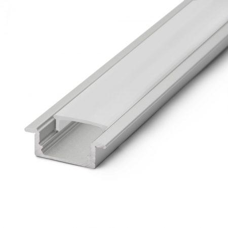 Süllyeszthető LED szalag profil fedlap 1m - fehér - 41011M1