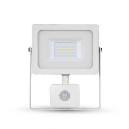 V-TAC mozgásérzékelős slim 10W SMD LED reflektor - 6400K - 5788