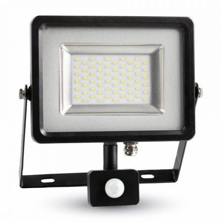 Prémium mozgásérzékelős 30W SMD LED reflektor - természetes fehér - fekete