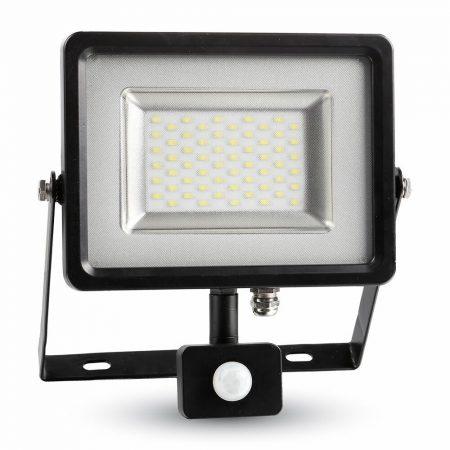 V-TAC mozgásérzékelős 30W SMD LED reflektor - meleg fehér - fekete - 5699