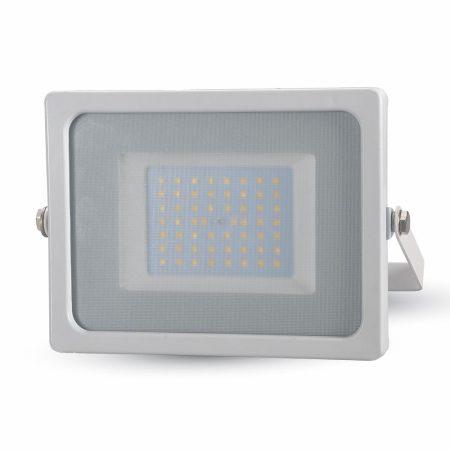 V-TAC 50W SMD LED reflektor, fényvető hideg fehér - fehér ház - 5827