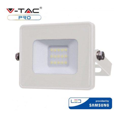 V-TAC 10W Samsung chipes SMD LED reflektor, fényvető 4000K - fehér ház - 428
