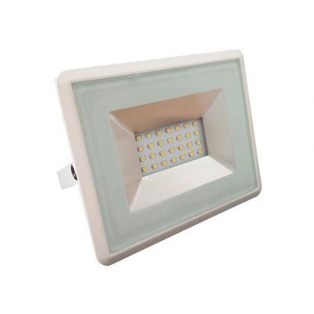 V-TAC 20W SMD LED reflektor, fényvető meleg fehér - fehér ház - 5949