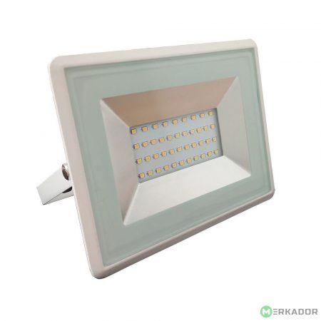 V-TAC 30W SMD LED reflektor, fényvető meleg fehér - fehér ház - 5955