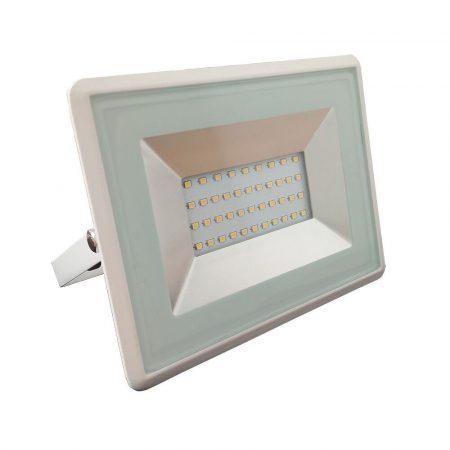 V-TAC 30W SMD LED reflektor, fényvető természetes fehér - fehér ház - 5956