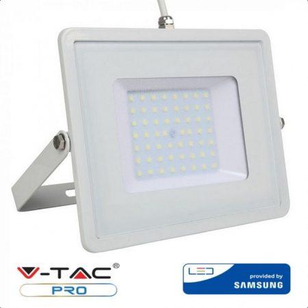 V-TAC PRO 30W fehér házas SMD LED reflektor, 4000K Samsung chipes fényvető - 404