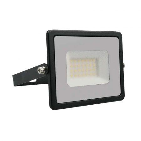 V-TAC 30W SMD LED reflektor, fényvető hideg fehér - fekete ház - 5954