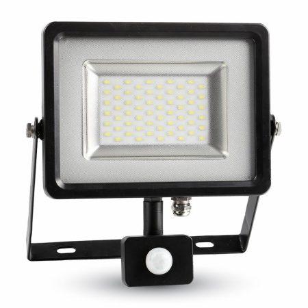 V-TAC mozgásérzékelős 50W SMD LED reflektor - hideg fehér - fekete ház - 5839