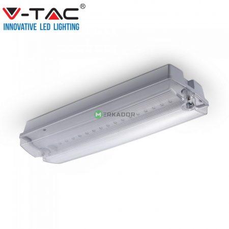 V-TAC vészvilágító LED lámpatest, akkus EXIT kijáratjelző - 83111