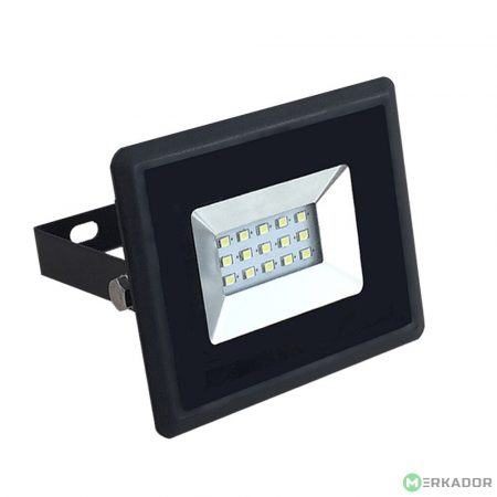 V-TAC 10W SMD LED reflektor, fényvető természetes fehér - fekete ház - 5941