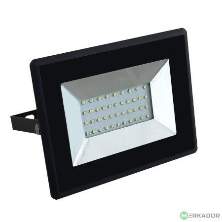 V-TAC 30W SMD LED reflektor, fényvető meleg fehér - fekete ház - 5952
