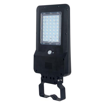 V-TAC mozgásérzékelős utcai LED lámpa, 15W napelemes reflektor - 8549