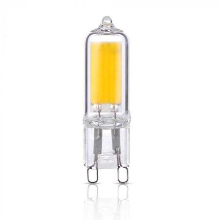 V-TAC G9 üveg LED izzó 2W - meleg fehér - 7337