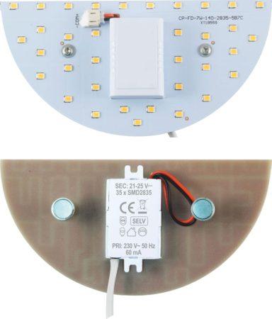 Beépíthető mágneses fél UFO lámpa LED panel 7W - Meleg fehér