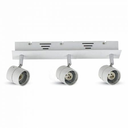 V-TAC mennyezeti / oldalfali lámpatest 3db GU10 porcelán foglalattal - 3619