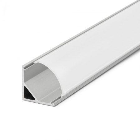 LED szalag sarok profil fedlap 1m - fehér