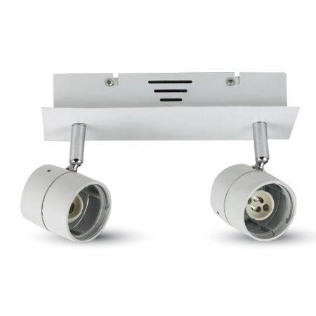 V-TAC mennyezeti / oldalfali lámpatest 2db GU10 porcelán foglalattal - 3618
