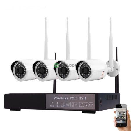 V-TAC Smart vezeték nélküli WIFI IP kamera rendszer - 4db kültéri kamera + NVR - 8400