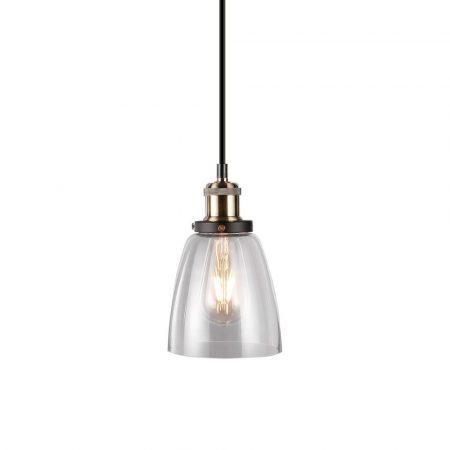 V-TAC csillár, üveg lámpatest átlátszó burával - 3735