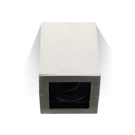 V-TAC felületre szerelhető matt króm mennyezeti spotlámpa - négyzet - 3632
