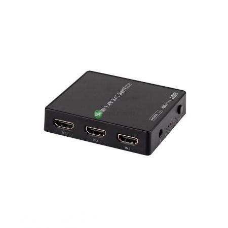 MK0971 3 portos, távirányítós HDMI kapcsoló elosztó