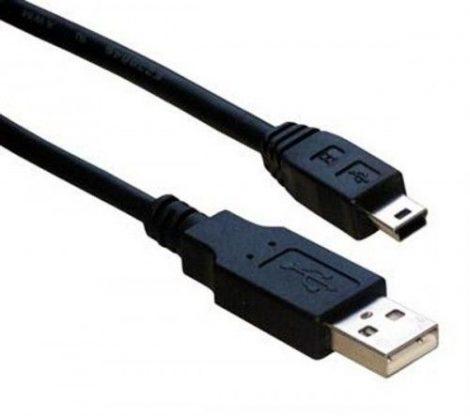 A USB  - B mini USB kábel 1m
