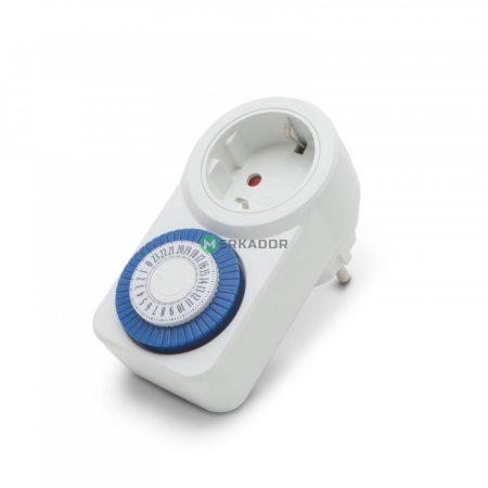 Mechanikus napi kapcsolóóra - analóg időkapcsoló - beltéri időzítő kapcsoló aljzat