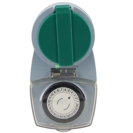 Mechanikus napi kapcsolóóra - analóg kültéri időkapcsoló aljzat
