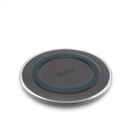 Delight vezetéknélküli töltő, wireless töltőállomás - fekete