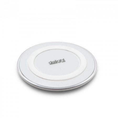 Delight vezetéknélküli töltő, wireless töltőállomás - fehér
