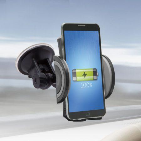 MNC vezeték nélküli autós töltő és mobiltelefon tartó
