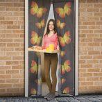 Mágneses szúnyogháló ajtóra - lepkés mintával
