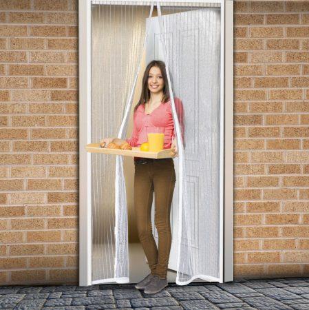 Delight mágneses szúnyogháló fehér függöny ajtóra 100x210cm (11398)