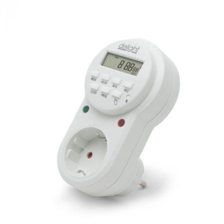 Digitális időkapcsoló / beltéri időzítő kapcsoló aljzat 3680W