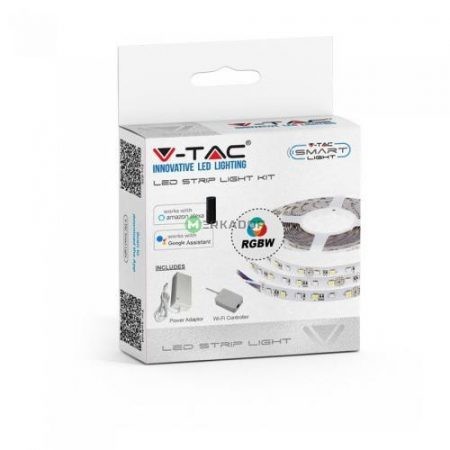 V-TAC Smart Light WiFi vezérlős 5 m RGBW LED szalag szett - 2584