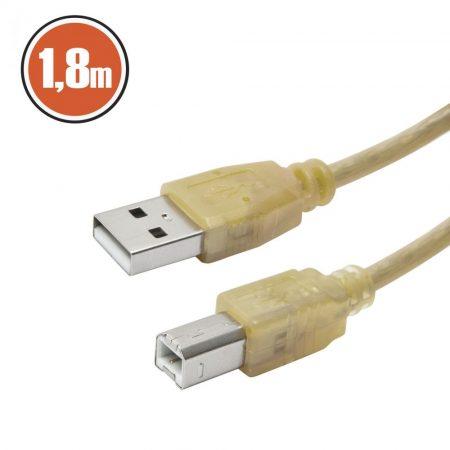 USB 2.0 nyomtatókábel 1,8m - vajszín