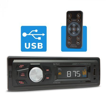 MNC Stream MP3 lejátszó autórádió microSD / USB olvasó
