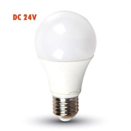 24V E27 9W LED lámpa izzó - természetes fehér