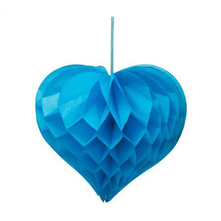 Szív alakú lampion - kék