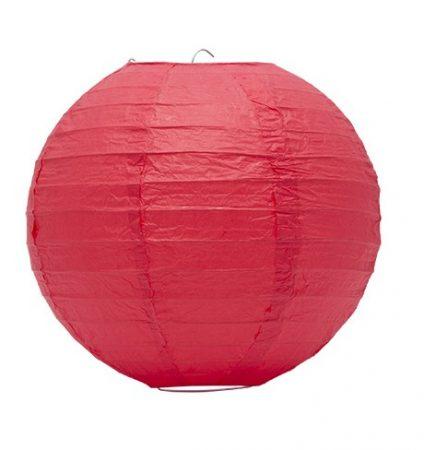 Lampion akasztóval 25cm - Piros
