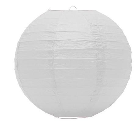 Lampion akasztóval 25cm - Fehér