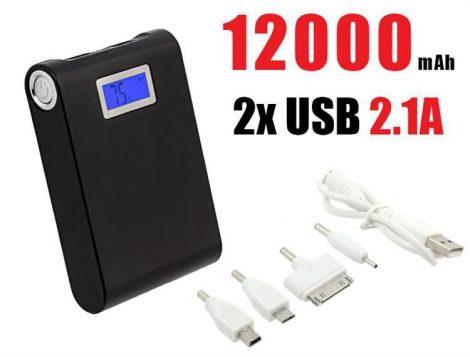12000 mAh akkumulátor vésztöltő külső akku -iPhone, Nokia, LG stb.