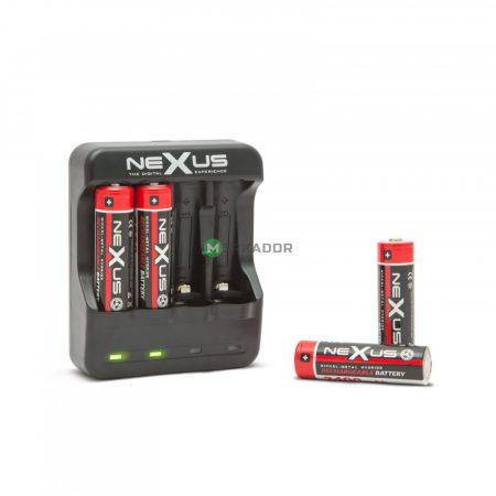 Nexus USB-s ceruza akkutöltő 1,2 V Ni-MH / Ni-Cd / AA / AAA akku töltő