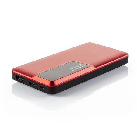 V-TAC univerzális külső telefon akkumulátor, fekete powerbank - 20000 mAh - 8903