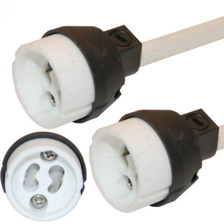 Hőálló GU10 LED / halogén spot izzó porcelán foglalat - 3620