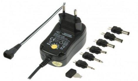 Univerzális állítható feszültségű tápegység + 6 db adapter 600 mA