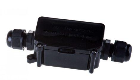 V-TAC IP65 kültéri vízálló fekete kötődoboz sorkapoccsal - 3578
