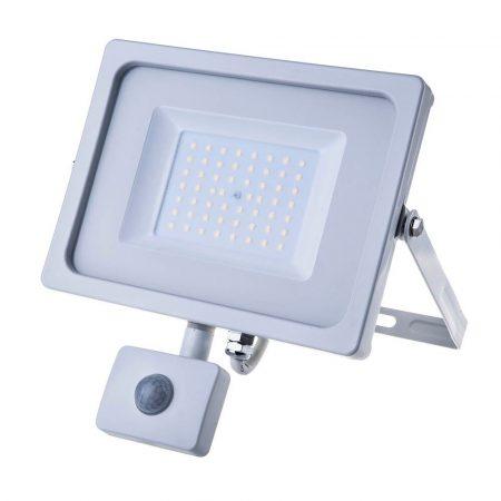 V-TAC mozgásérzékelős 50W SMD LED reflektor - 3000K - fehér ház - 5840